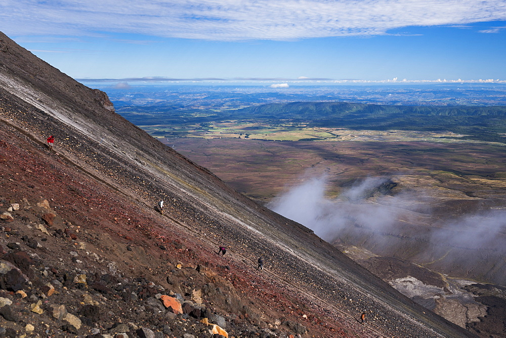 Mount Ngauruhoe Volcano summit climb, an extra on the Tongariro Alpine Crossing, Tongariro National Park, UNESCO World Heritage Site, North Island, New Zealand, Pacific