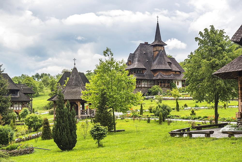 Barsana Monastery, one of the Wooden Churches of Maramures, UNESCO World Heritage Site, Barsana, Romania, Europe