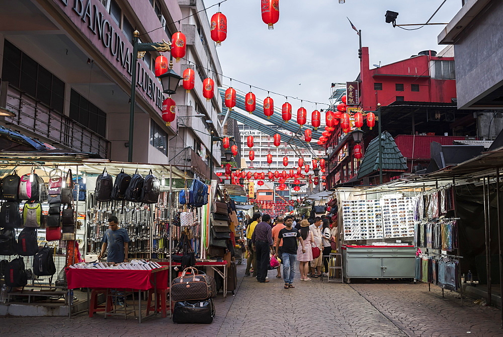 Jalan Petaling, the main market street in Chinatown, Kuala Lumpur, Malaysia