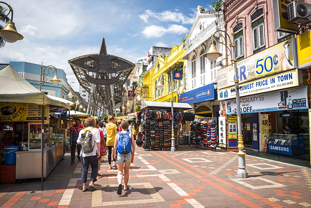 Tourists in Chinatown, Kuala Lumpur, Malaysia, Southeast Asia, Asia