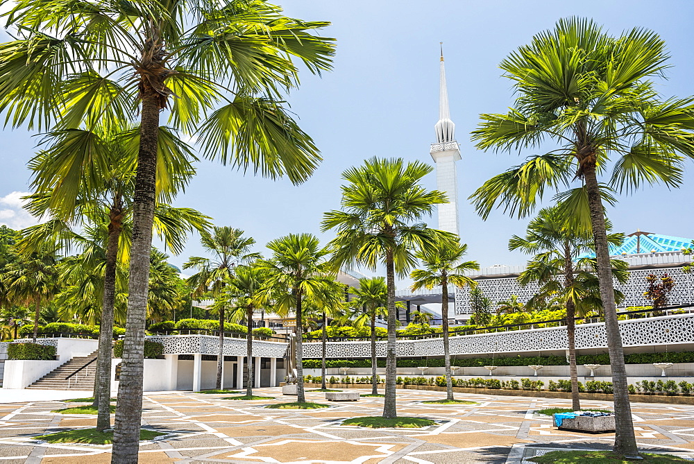 National Mosque (Masjid Negara Mosque or Grand Mosque), Kuala Lumpur, Malaysia