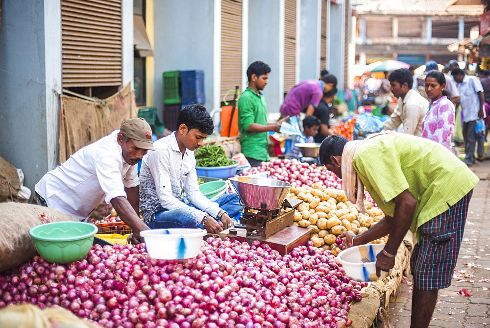 Vegetables for sale in Mapusa Market, Goa, India, Asia - 1109-3119