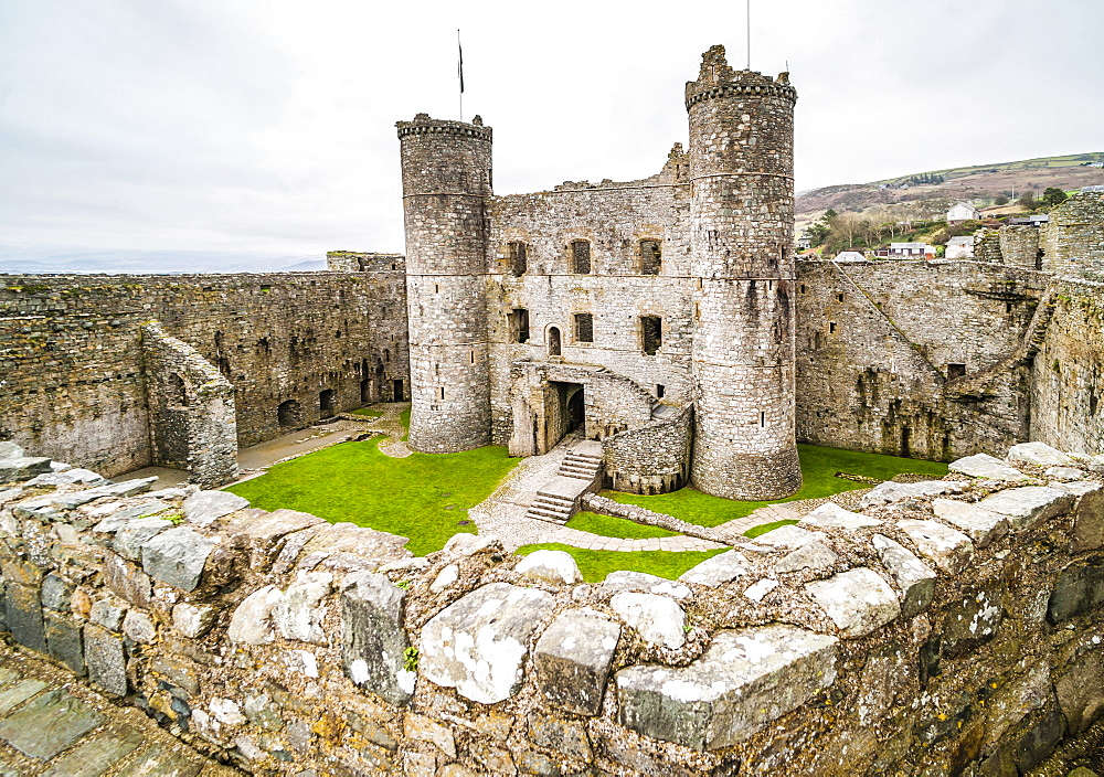 Harlech Castle, UNESCO World Heritage Site, Gwynedd, North Wales, Wales, United Kingdom, Europe
