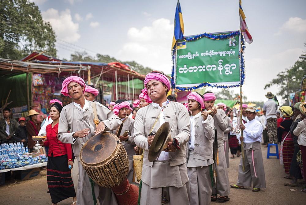 Pindaya Cave Festival, Pindaya, Shan State, Myanmar (Burma), Asia