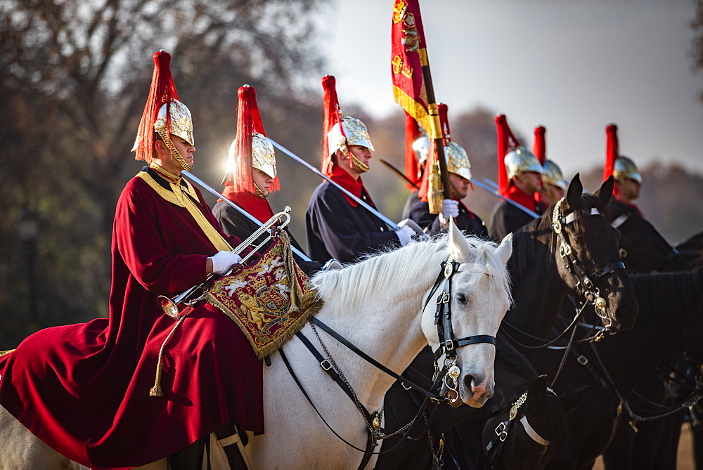 Changing of the guard, Horse Guards, Westminster, London, England - 1109-3714