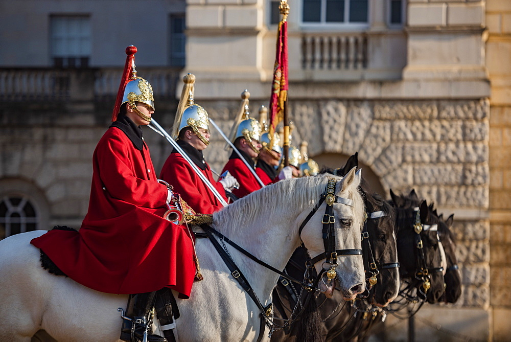 Changing of the guard, Horse Guards, Westminster, London, England - 1109-3715