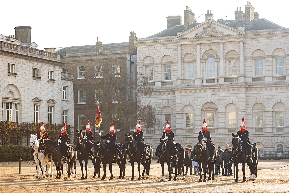 Changing of the guard, Horse Guards, Westminster, London, England - 1109-3716
