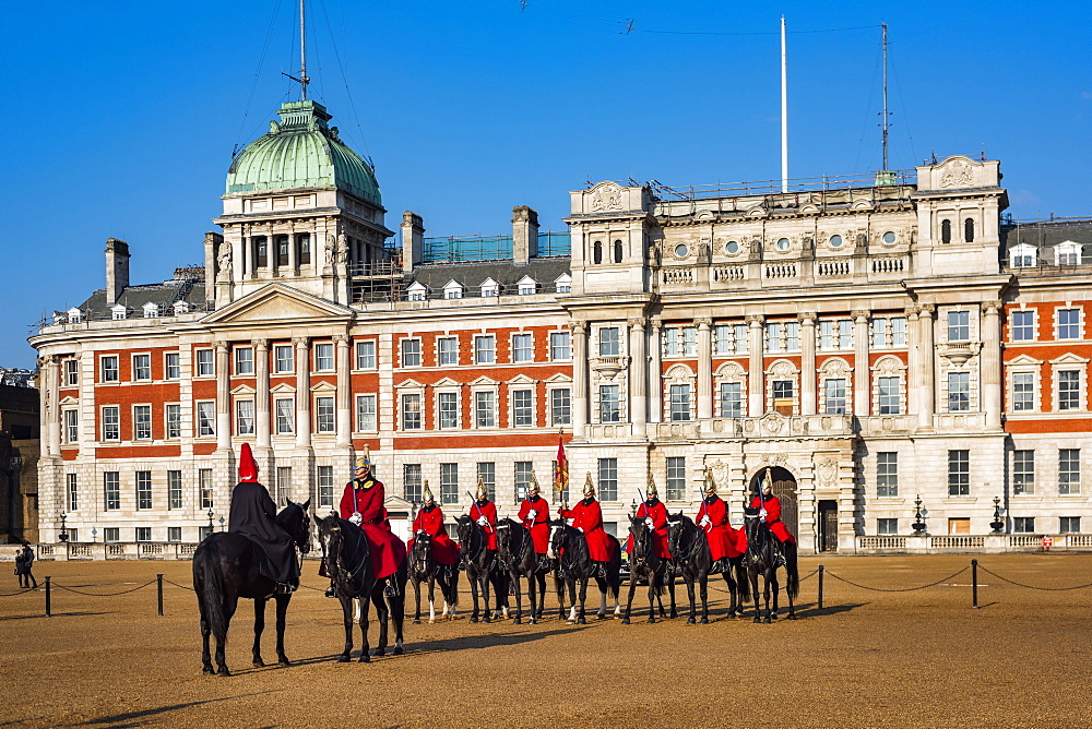 Changing of the guard, Horse Guards, Westminster, London, England - 1109-3718