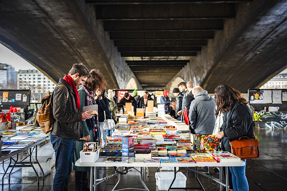 South Bank Second Hand Book Market, South Bank, Southwark, London, England