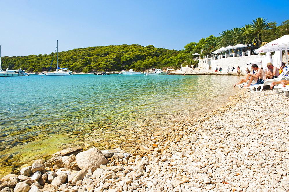 Beach, Pakleni Islands (Paklinski Islands), Dalmatian Coast, Adriatic Sea, Croatia, Europe