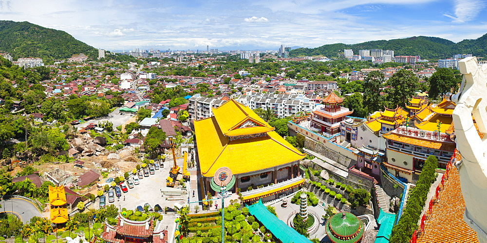 View over George Town from Kek Lok Si Temple, Penang, Malaysia, Southeast Asia, Asia