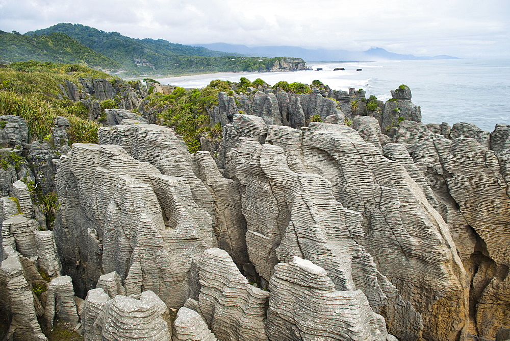 Pancake Rocks, Punakaiki, West Coast, South Island, New Zealand, Pacific