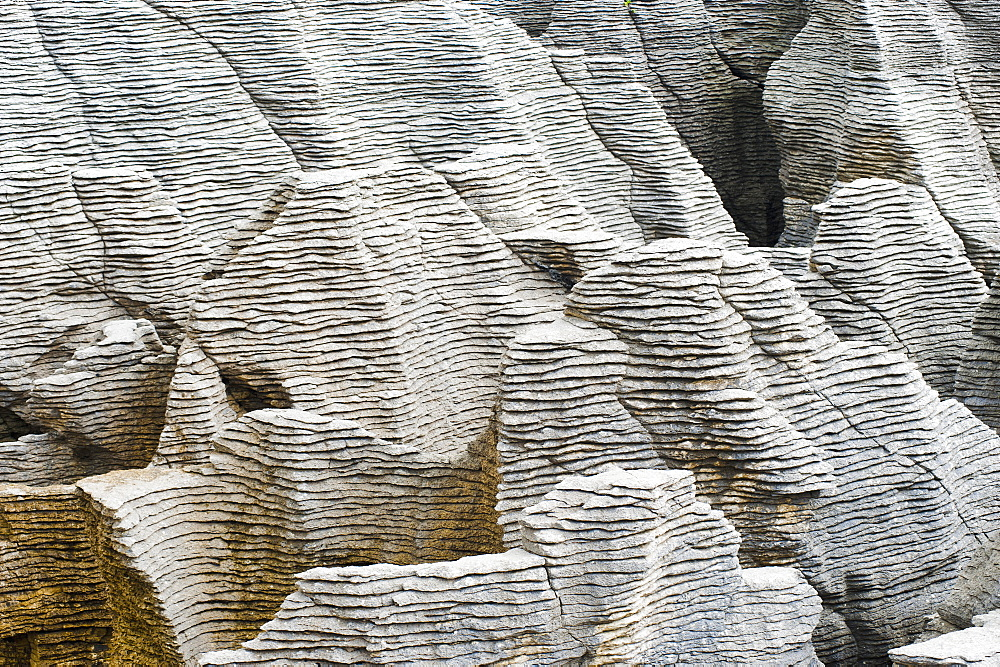 Rock patterns at Pancake Rocks, Punakaiki, West Coast, South Island, New Zealand, Pacific