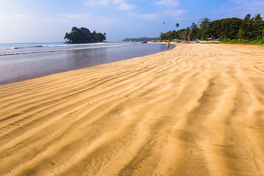 Weligama Beach and Taprobane Island, South Coast of Sri Lanka, Indian Ocean, Asia