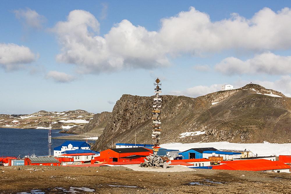 Chilean Base Presidente Eduardo Frei Montalva, Collins Harbour, King George Island, South Shetland Islands, Antarctica, Polar Regions