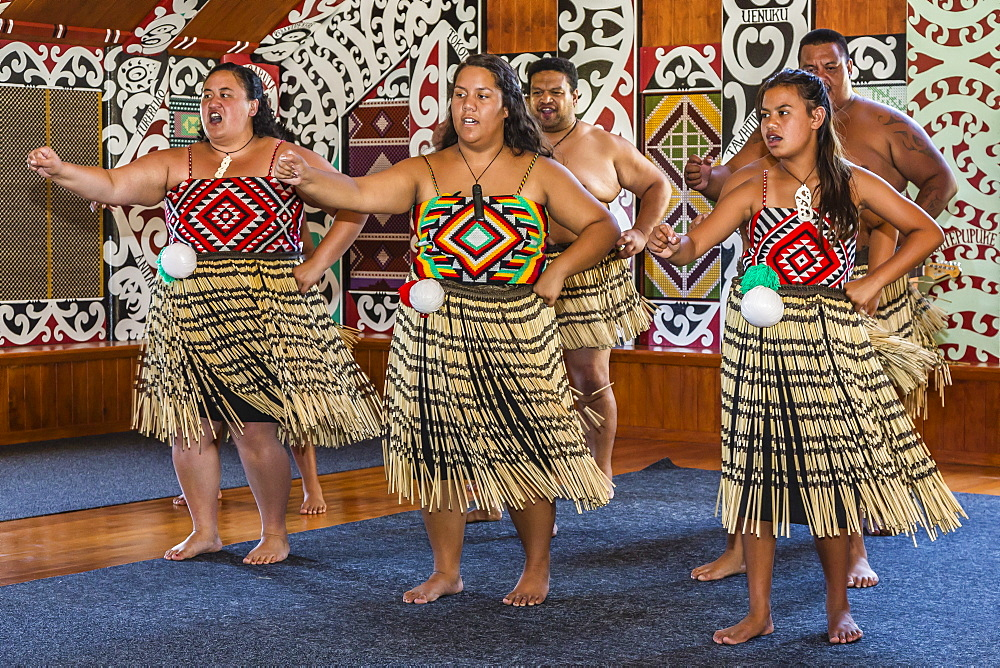 Poi dancers at Pakowhai Marae, Gisborne, North Island, New Zealand, Pacific - 1112-1297