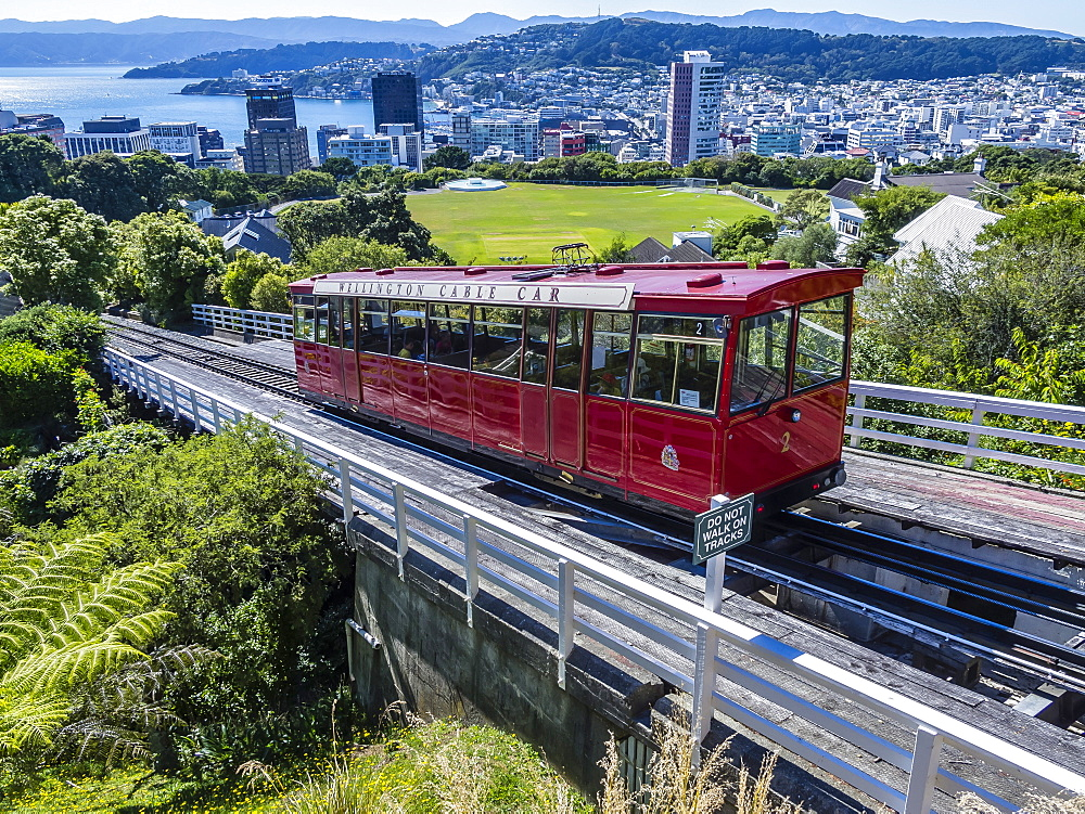 Cable car, Wellington, North Island, New Zealand, Pacific - 1112-1327