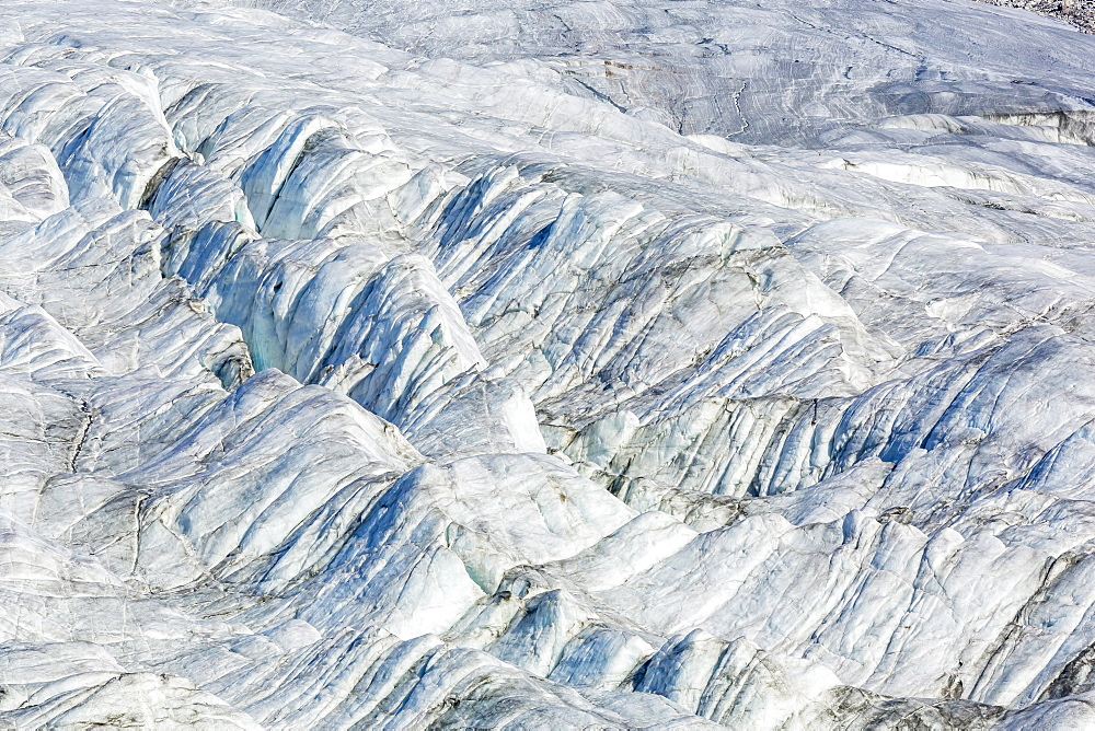 Glacier detail in Icy Arm, Baffin Island, Nunavut, Canada, North America