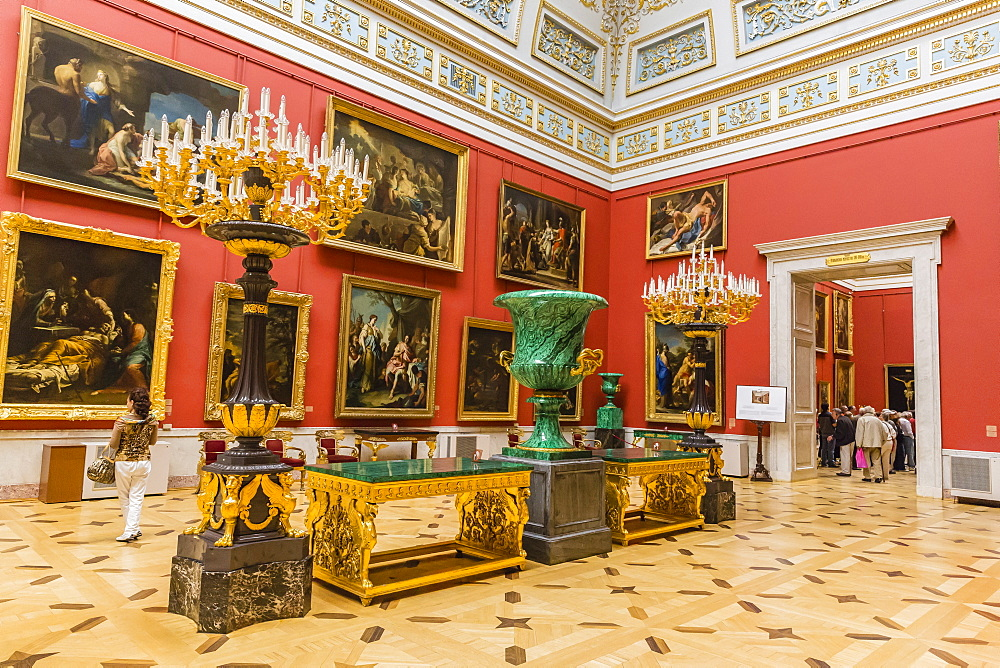 Interior view of the Winter Palace, The Hermitage, UNESCO World Heritage Site, St. Petersburg, Russia, Europe