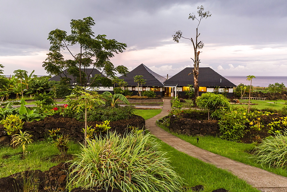 A view of the Hotel Altiplanico on Easter Island (Isla de Pascua), Rapa Nui, Chile, South America