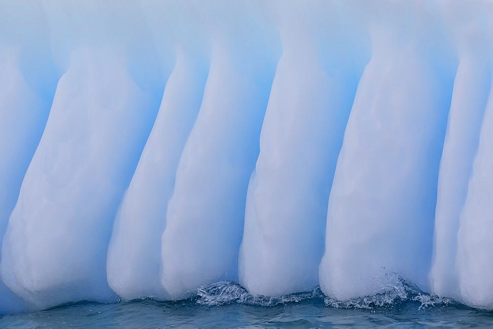 Glacial iceberg detail at Cuverville Island, Antarctica, Polar Regions