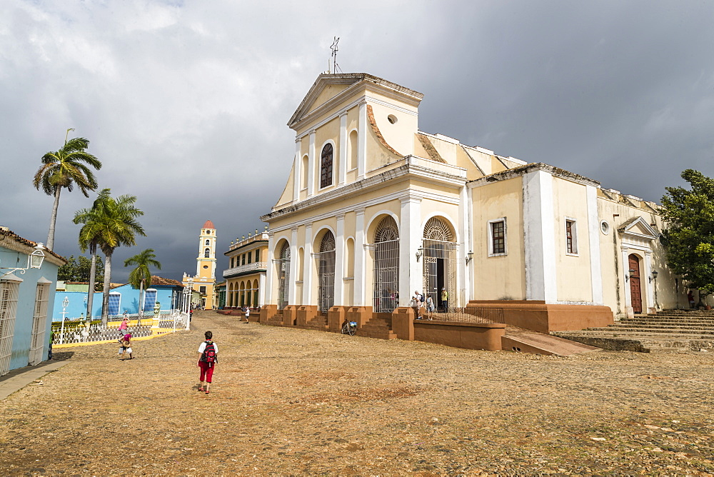 Exterior view of the Iglesia Parroquial de la Santisima, Trinidad, UNESCO World Heritage Site, Cuba, West Indies, Caribbean, Central America
