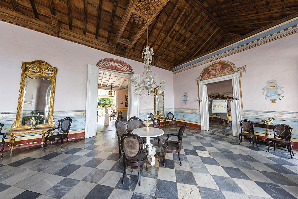 Interior view of the Museo de Arquitectura Colonial in the UNESCO World Heritage town of Trinidad, Cuba.