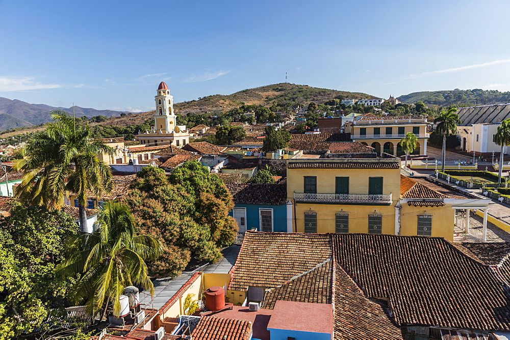 The Convento de San Francisco and Plaza Mayor in the UNESCO World Heritage town of Trinidad, Cuba.