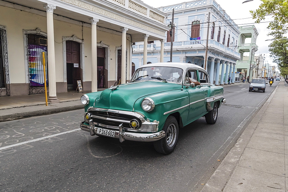 Classic 1950's Chevrolet Bel Air taxi, locally known as 'almendrones' in the town of Cienfuegos, Cuba.