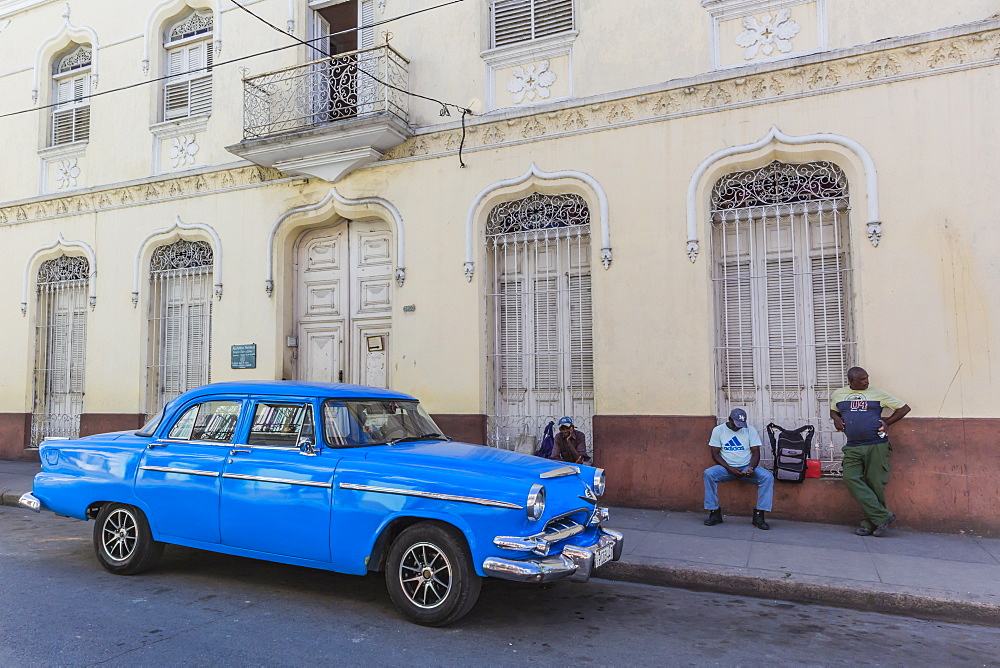 Classic 1950's Dodge taxi, locally known as 'almendrones' in the town of Cienfuegos, Cuba.