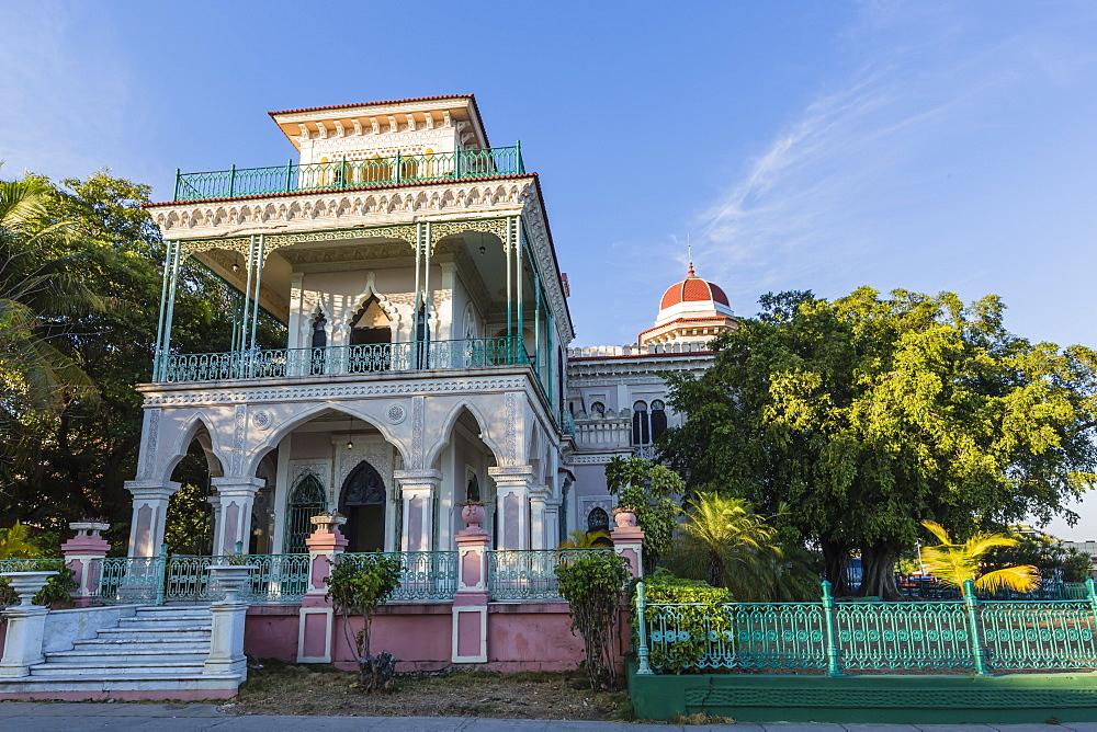 Exterior view of Palacio de Valle (Valle's Palace), Punta Gorda, Cienfuegos, Cuba, West Indies, Caribbean, Central America