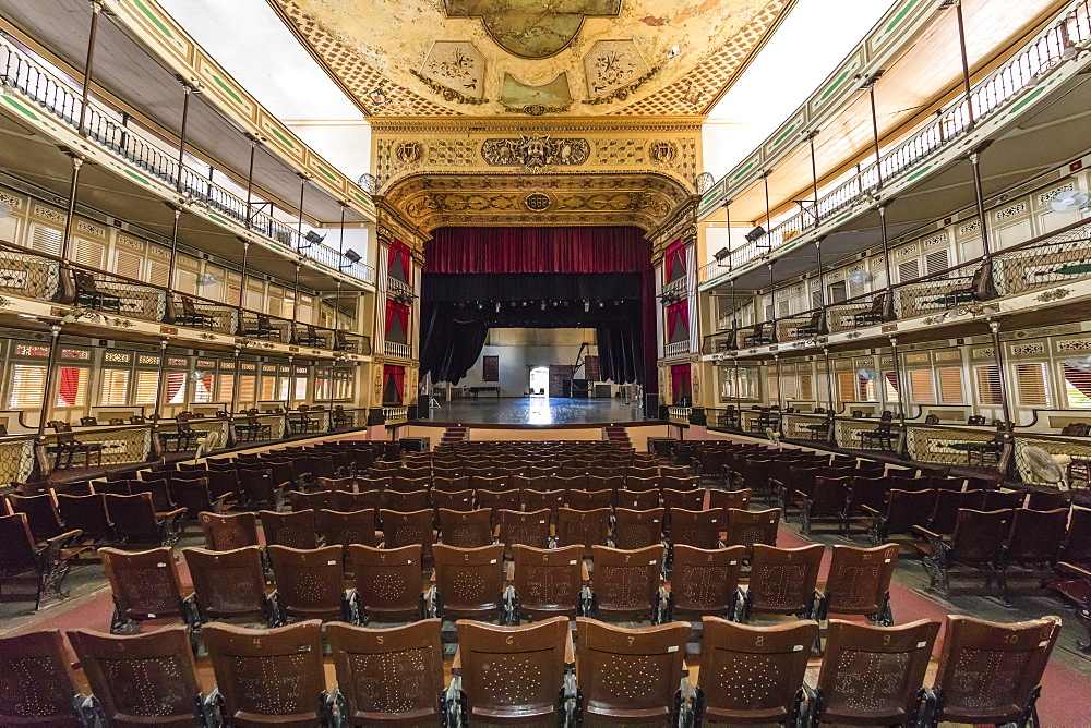 Interior view of the Teatro TomaÃÅs Terry, Tomas Terry Theatre, opened in 1890 in the city of Cienfuegos, Cuba.