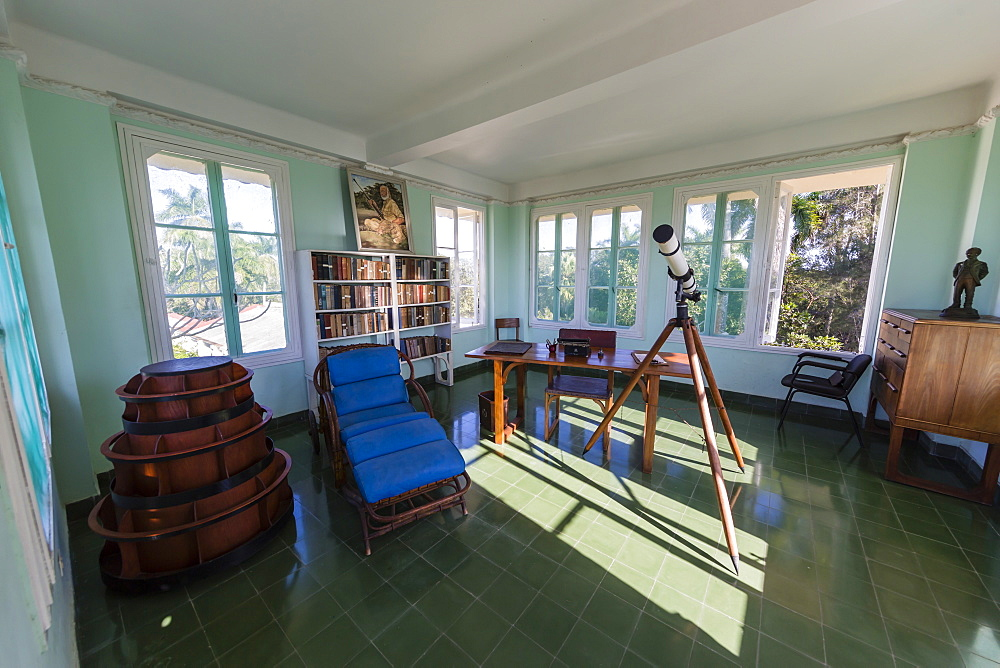 Hemingway's observation deck at Finca Vigia (Finca La Vigia), in San Francisco de Paula Ward in Havana, Cuba, West Indies, Central America