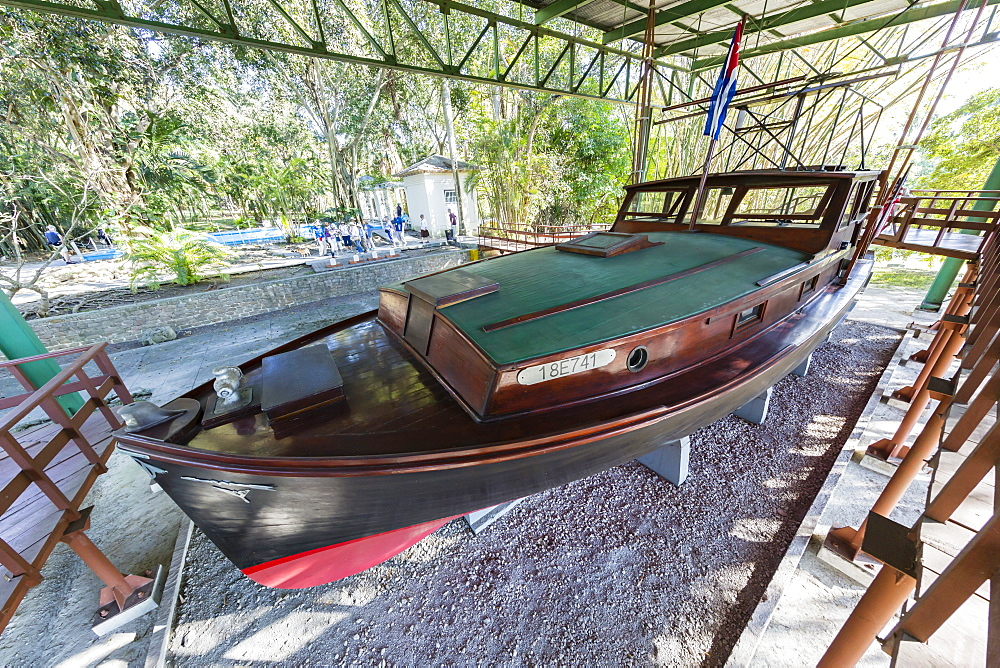 Ernest Hemingway's boat named Pilar at Finca Vigia (Finca La Vigia), in San Francisco de Paula Ward in Havana, Cuba, West Indies, Central America