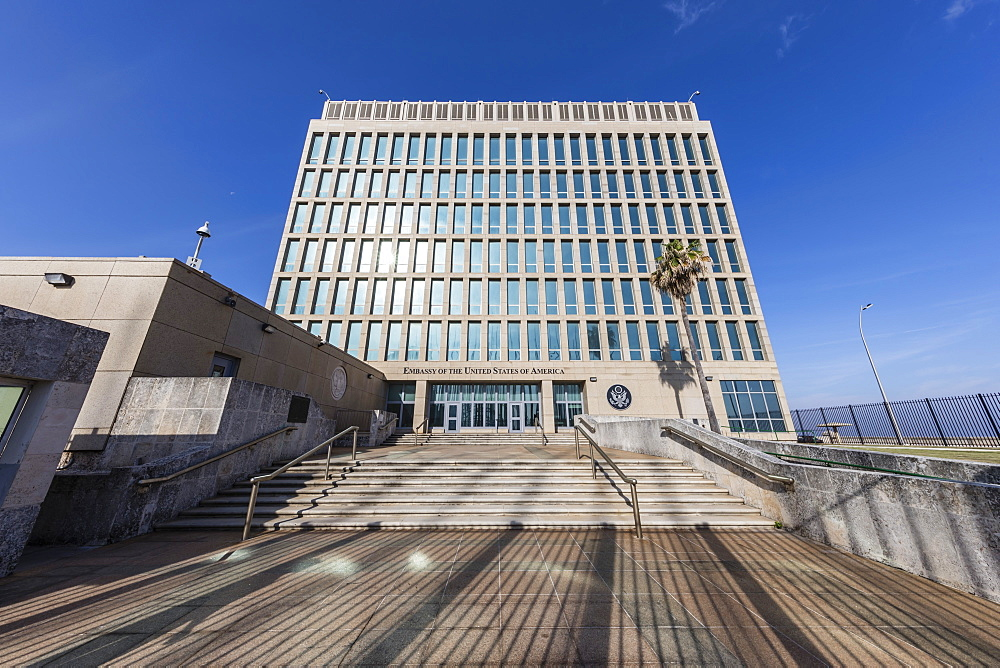 The Embassy of the United States of America, reinstated as of July 20, 2015 in Havana, Cuba, West Indies, Central America