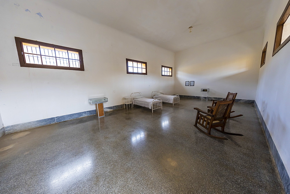 The room in Presidio Modelo where Fidel Castro and his brother Raul were imprisoned, Isla de la Juventud, Cuba, West Indies, Central America