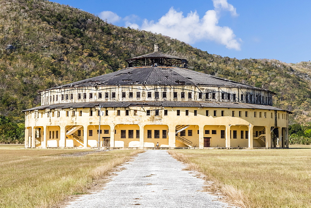 Exterior view of the Presidio Modelo (Model Prison), built in the late 1920s on Isla de la Juventud, Cuba, West Indies, Central America