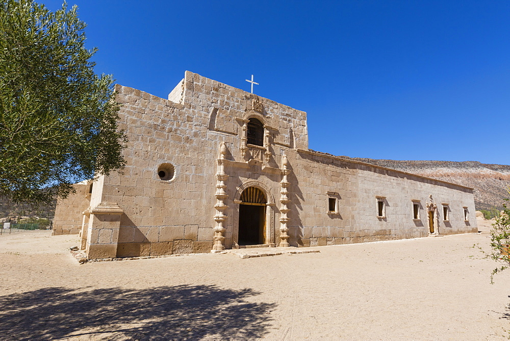 Exterior view of the Jesuit Mision de San Francisco Borja, Baja California, Mexico, North America