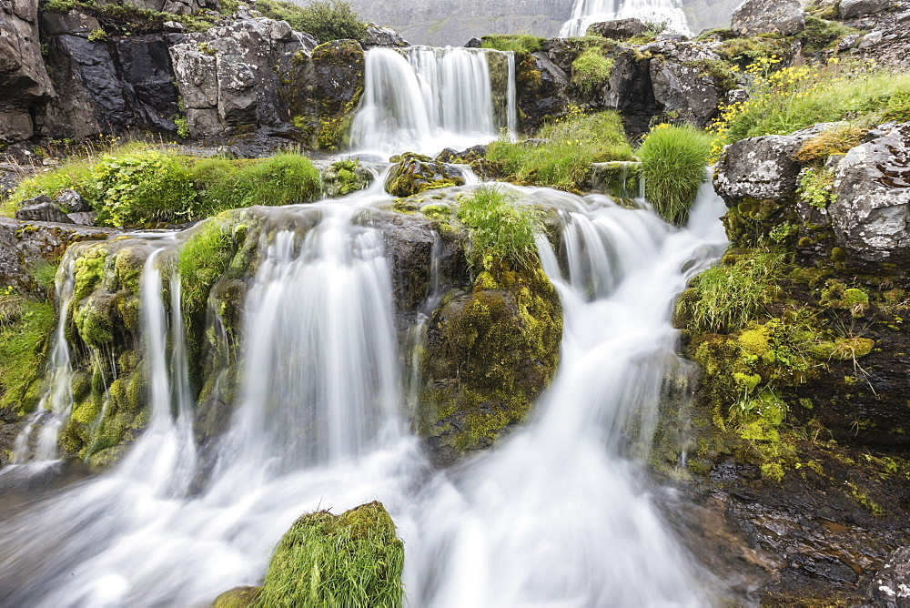 Dynjandi, Fjallfoss, is a series of waterfalls located in the Westfjords, Vestfirðir, Iceland.