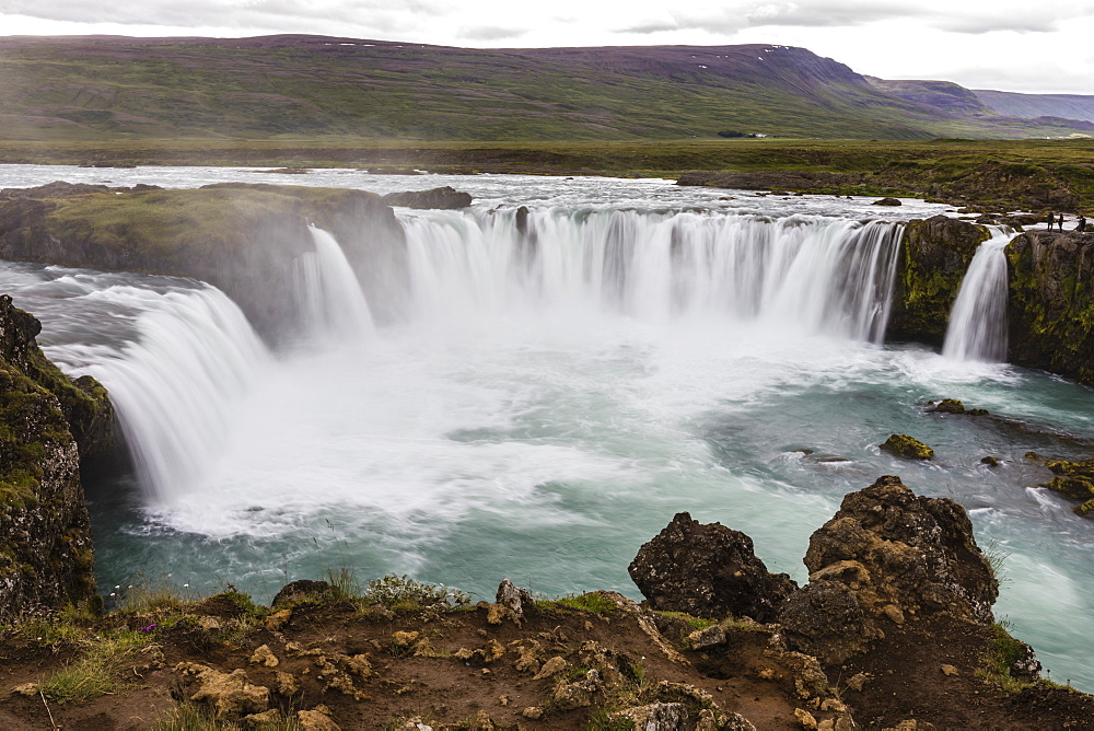Goðafoss, waterfall of the gods, Skjálfandafljót River, Bárðardalur district, Iceland.