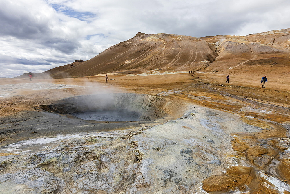 Hverarönd mud pots, steam vents, and sulphur deposits on the north coast of Iceland. - 1112-3638