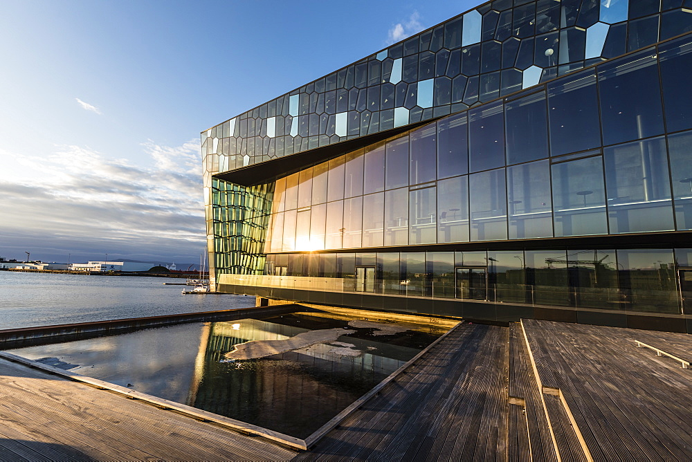 Exterior view of Harpa, a concert hall and conference centre in Reykjavík, Iceland. - 1112-3644