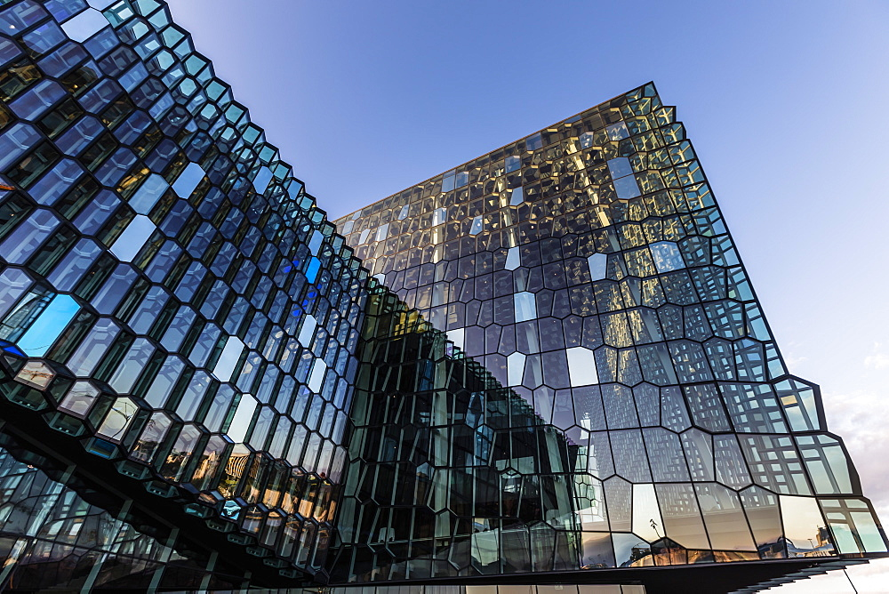 Exterior view of Harpa, a concert hall and conference centre in Reykjavík, Iceland. - 1112-3646