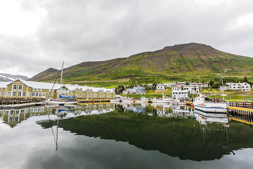 The herring capital of the world, Siglufjorour, Siglufjordur, off the north coast of Iceland, Polar Regions