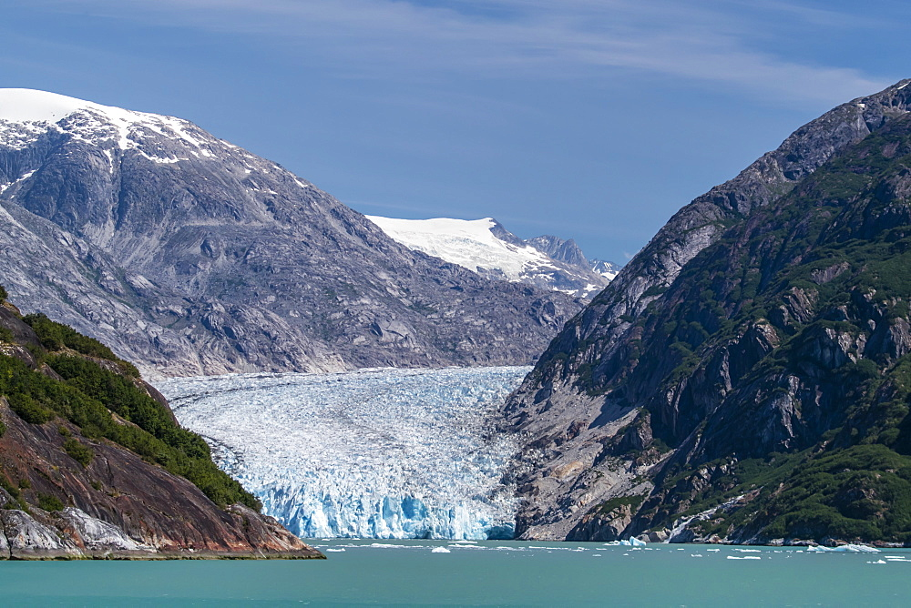 Dawes Glacier in Endicott Arm in Southeast Alaska, United States of America, North America