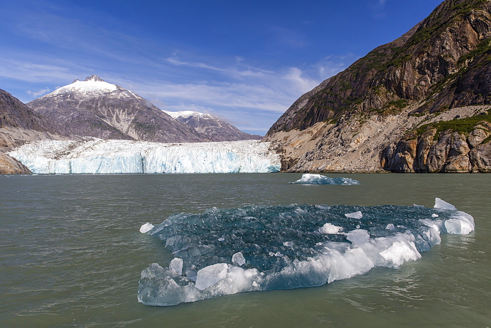 Blue ice in front of the Dawes Glacier in Endicott Arm in Southeast Alaska, USA. - 1112-3806