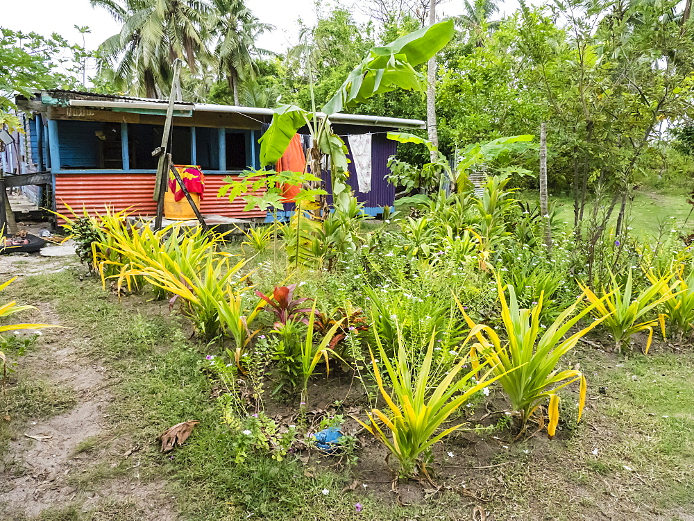 Village home on the small island of Dravuni, Kadavu Group, Republic of Fiji, South Pacific Islands, Pacific