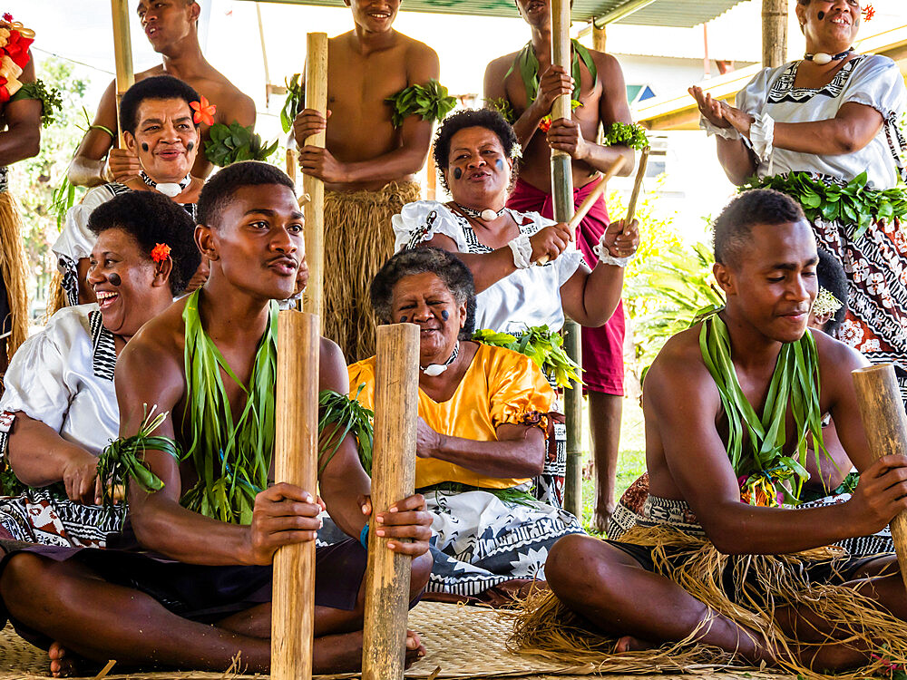 A kava ceremony from the people of Sabeto Village, Viti Levu, Republic of Fiji. - 1112-3868