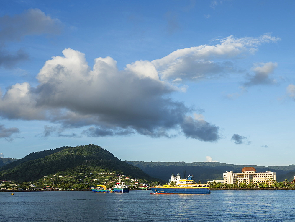 Apia Harbor on the island of Upolu, the second largest island in Samoa. - 1112-3878