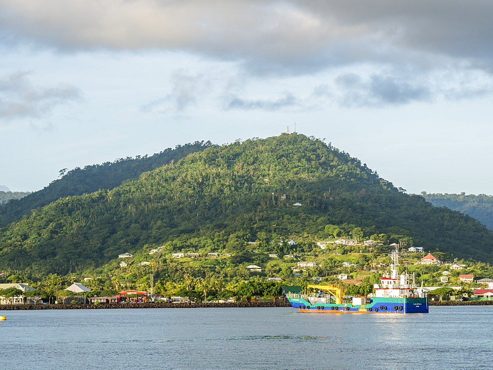 Apia Harbor on the island of Upolu, the second largest island in Samoa. - 1112-3879